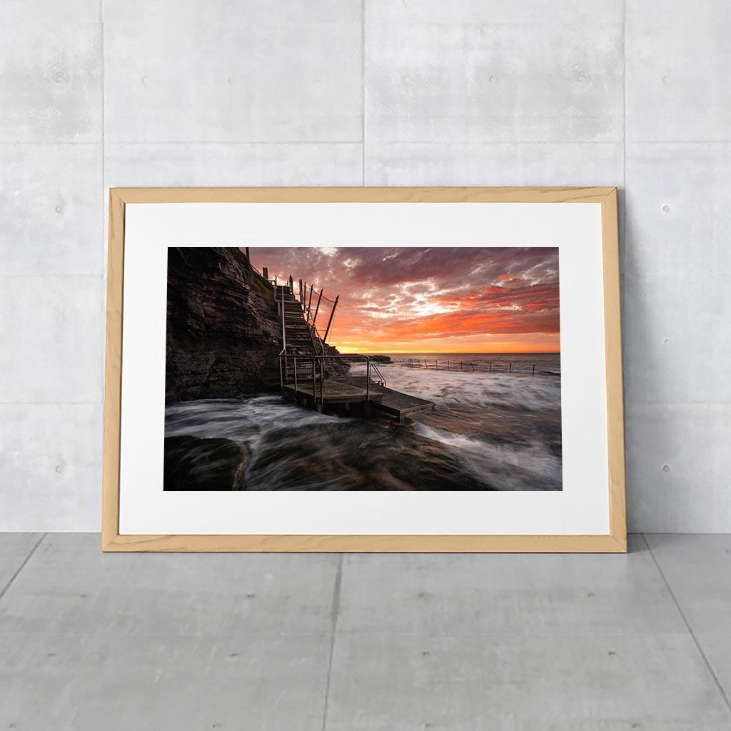 Australian Landscape Photos - Bogey Hole Newcastle